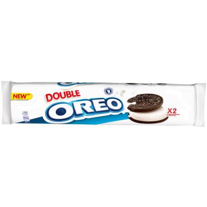 OREO Biscuits cacaotés fourrés goût vanille - 157 g