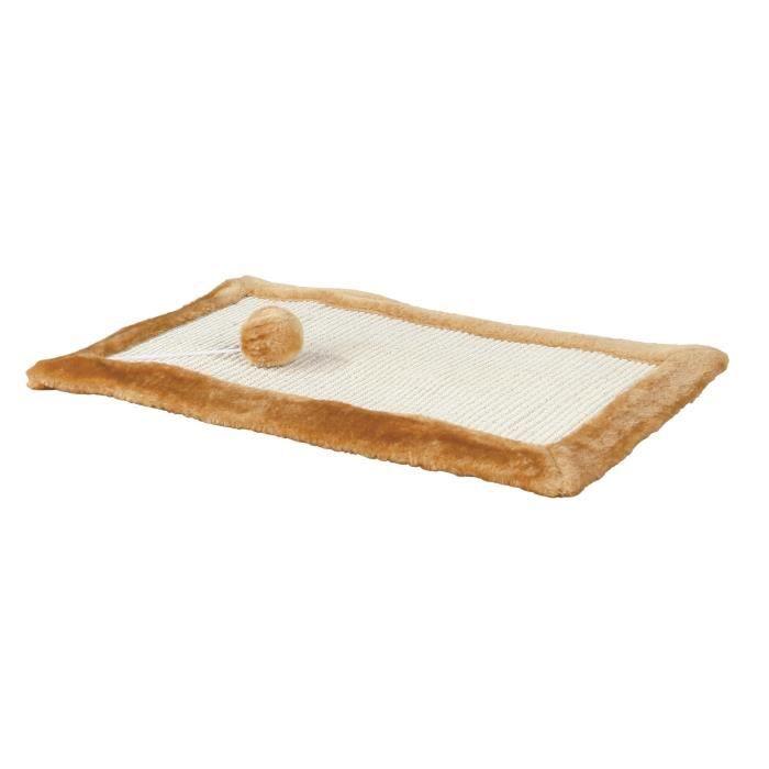 TRIXIE Griffoir sisal avec bord peluche - Pour chat
