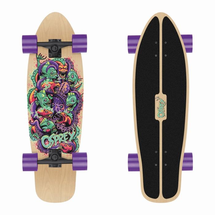 OSPREY Skateboard Mini Cruiser Piranha Adulte
