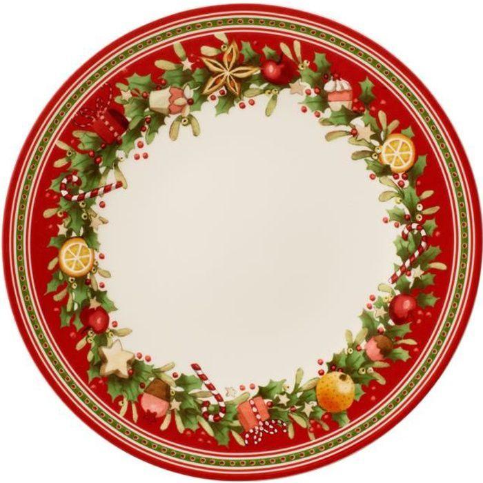 Villeroy & Boch 14-8612-2621 Assiette Plate Porcelaine Rouge 29,2 x 29,2 x 8,5 cm