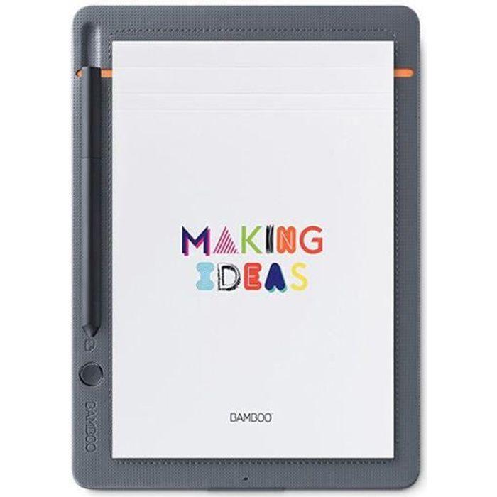 Wacom Smartpad Bamboo - Slate Bloc-notes Connecté pour Tablette - Small - Gris