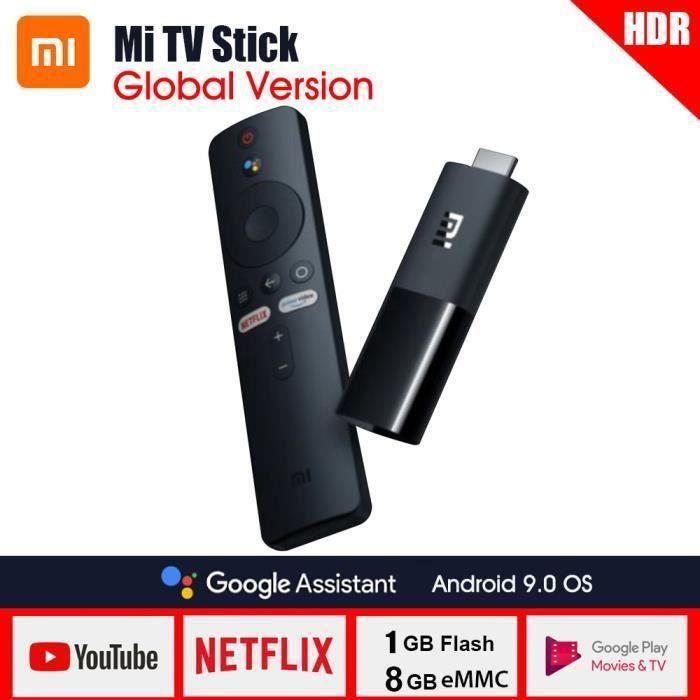 XIAOMI Mi TV Stick - Votre interface streaming portable, Google Assistant et Chromecast intégré - Android TV 9.0