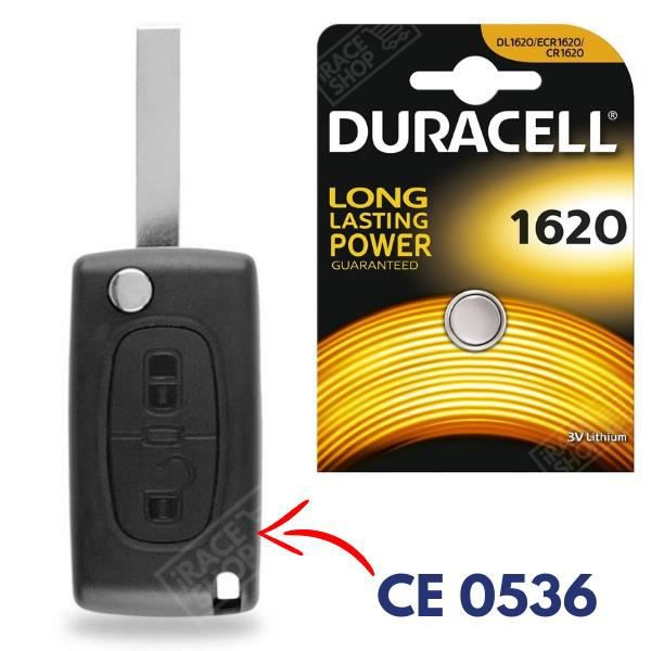 REMOTE CONTROL KEY for PEUGEOT 107 407 807 1007 CR1620 BATTERY