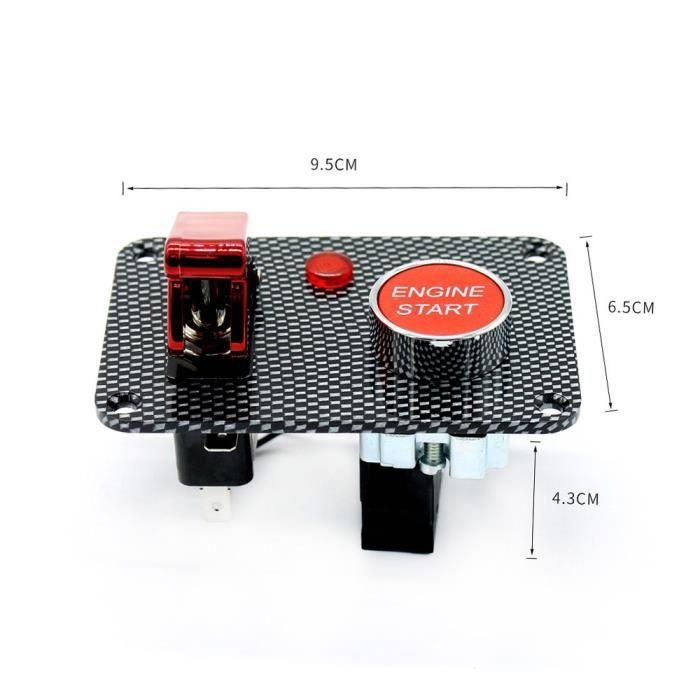 Couvercle de Bouton de D/émarrage de Moteur de Voiture en Fibre de Carbone Rouge Bouton de Protection dArr/êt de D/émarrage