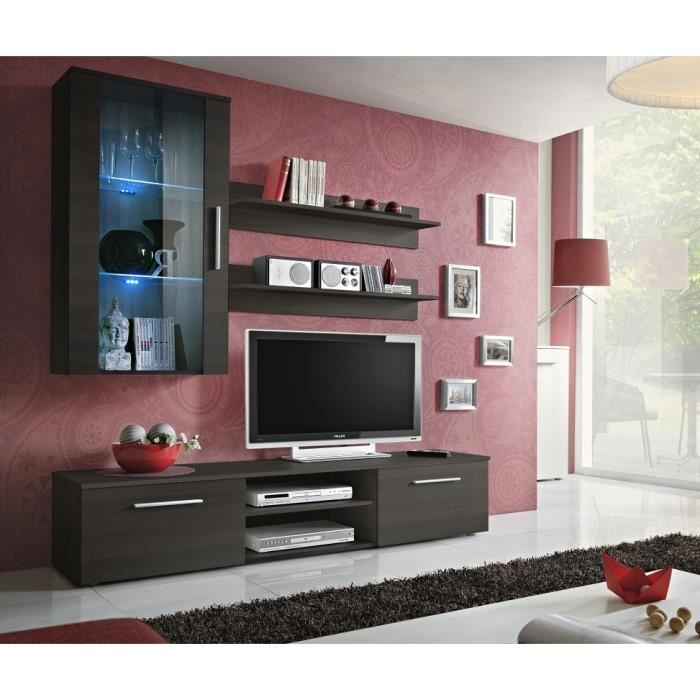 Meuble de salon tv complet design gali e led achat - Meuble salon complet ...