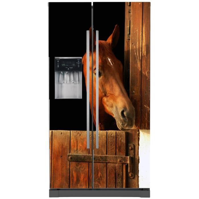 sticker frigo am ricain d co cheval dimensions achat. Black Bedroom Furniture Sets. Home Design Ideas