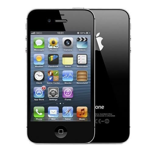 apple iphone 4s 8gb noir achat smartphone pas cher avis. Black Bedroom Furniture Sets. Home Design Ideas