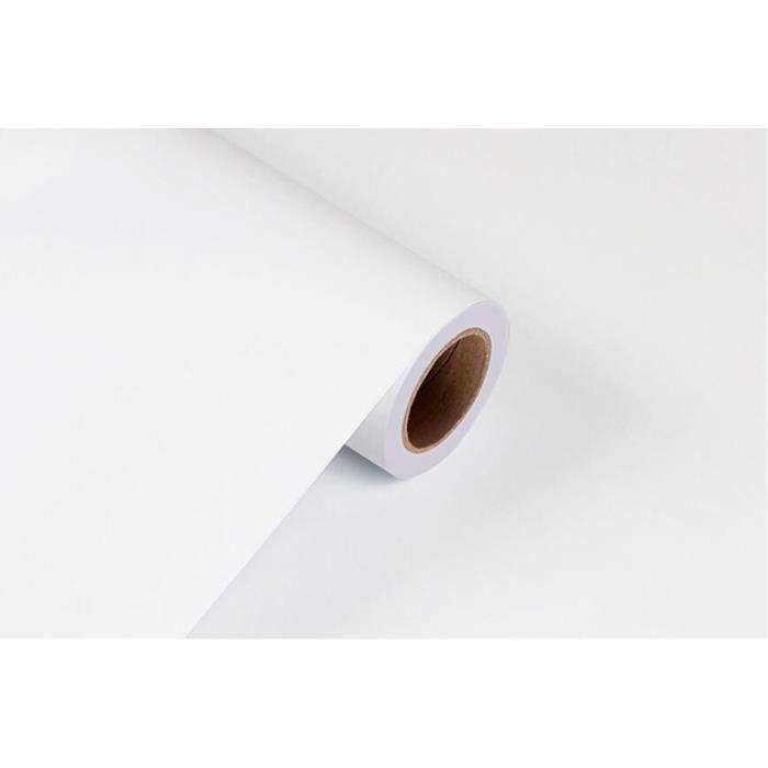 KINLO Papier Vinyle Mat Autocollant 5*0.62M Blanc DIY Papier Peint Imperm/éable en PVC Sticker Meuble Auto-Adh/ésif Sans Paillet/és Stickers Muraux Installation Facile pour Armoire Cuisine Meuble Porte
