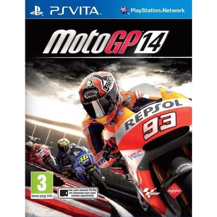 motogp 14 ps vita achat vente jeu ps vita motogp 14 ps vita cdiscount. Black Bedroom Furniture Sets. Home Design Ideas