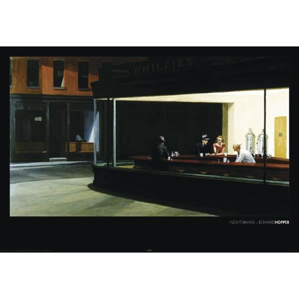 Poster edward hopper 1 powerstrips tesa adh sifs double face 20pcs acha - Edward hopper maison ...