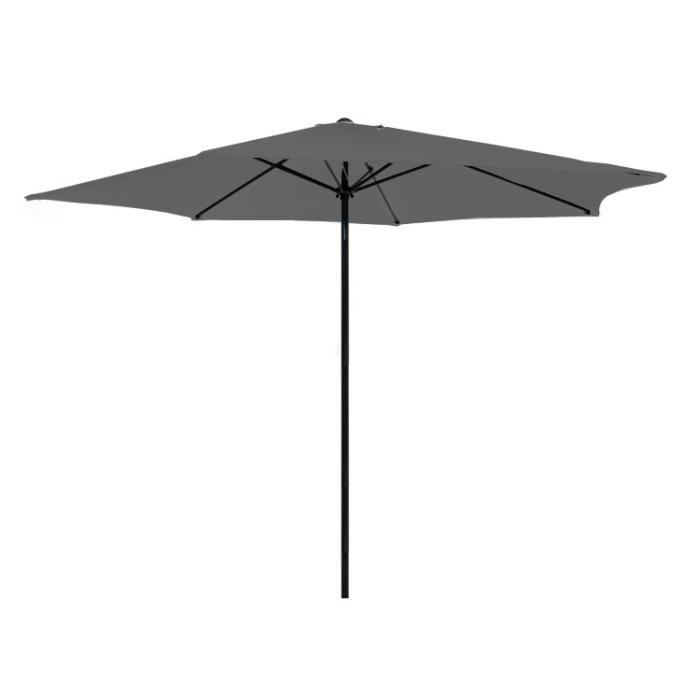 parasol gris en aluminium 350 cm kalomo gris achat vente parasol parasol gris en aluminium 3. Black Bedroom Furniture Sets. Home Design Ideas