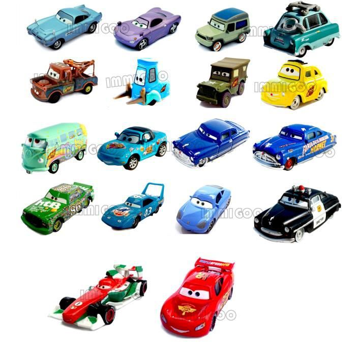 immigoo cars 1 cars 2 lot de 18 pieces voitures v hicules. Black Bedroom Furniture Sets. Home Design Ideas