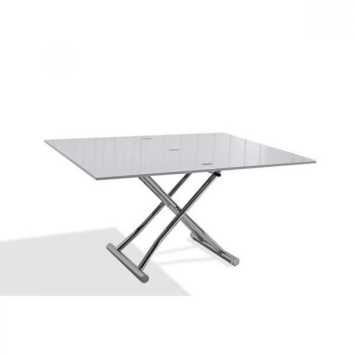 Table basse relevable blanche pas cher table de lit - Table basse relevable extensible pas cher ...