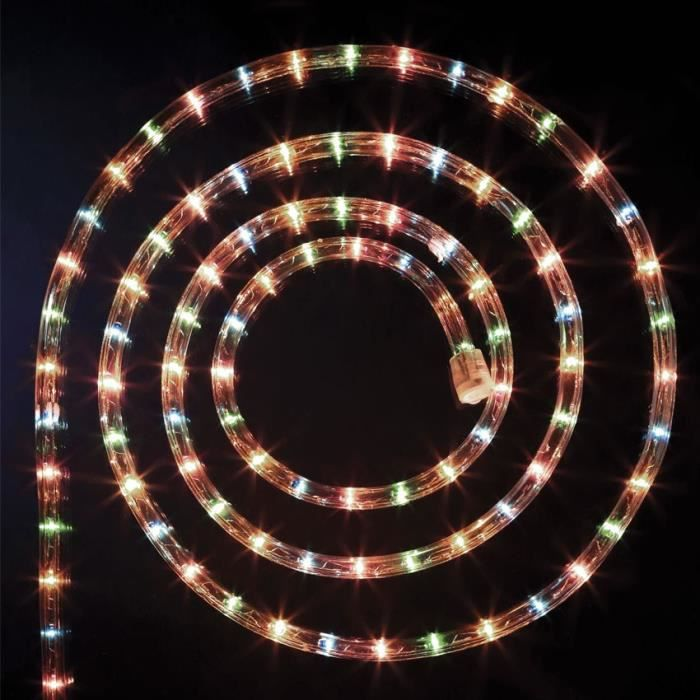 Guirlande no l ext rieur tube lumineux led 8 fonctions 24m for Lumiere exterieur noel