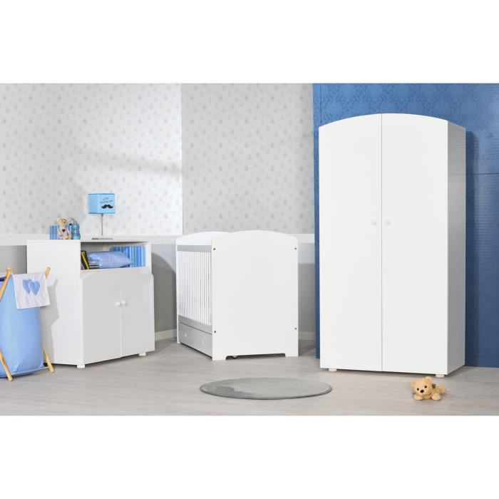 Chambre b b compl te iris blanche direct usine made in france achat - Chambre bebe cdiscount ...