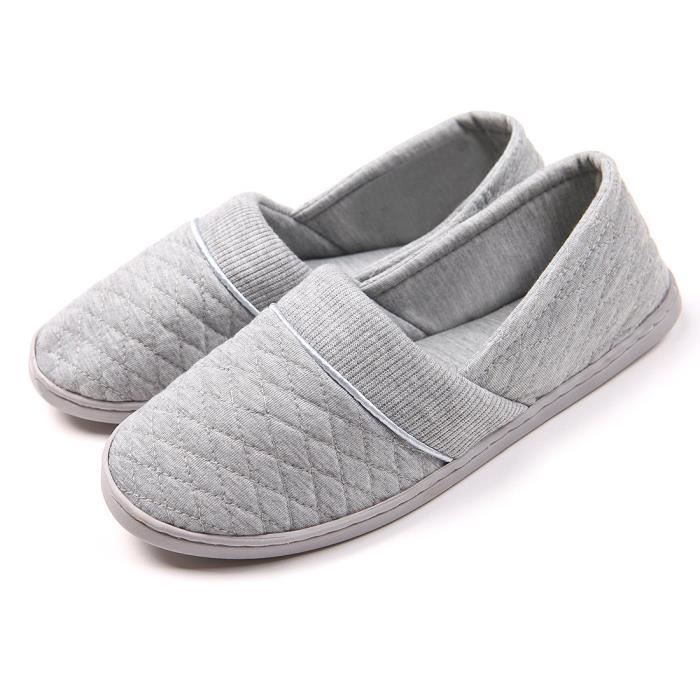 Comfort Cotton Soft Sole Indoor Slippers Anti-slip House Shoes VLHJ0 Taille-38 3MjfYbsqSk