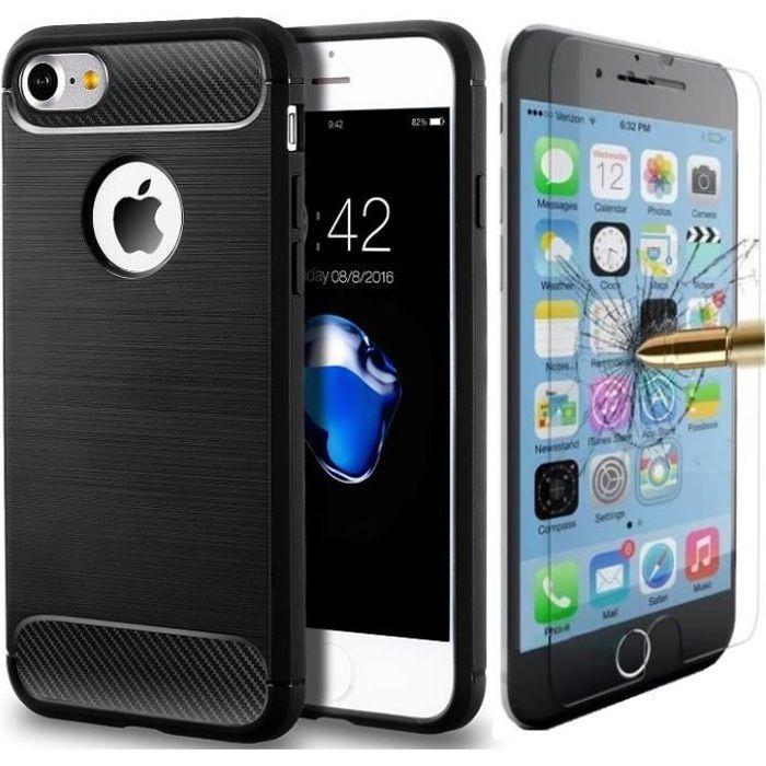 coque iphone 7 antichoc design verre trempe