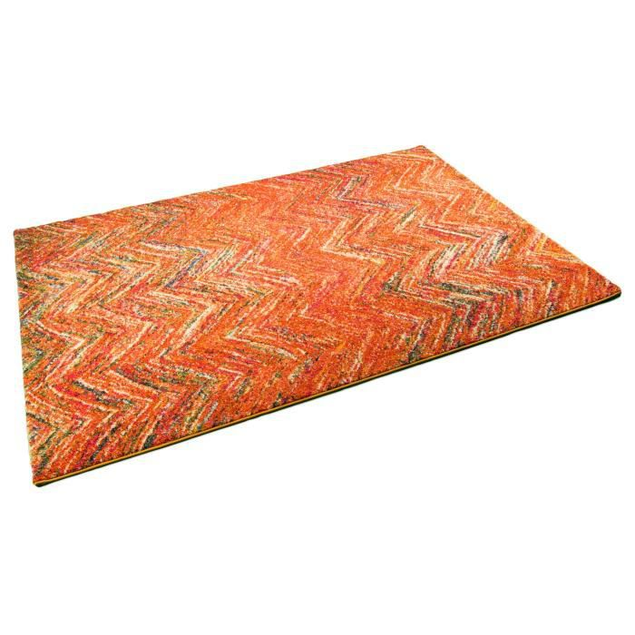 tapis design casablanca orange universol achat vente tapis cdiscount. Black Bedroom Furniture Sets. Home Design Ideas
