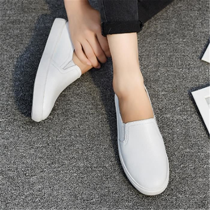 Chaussures Femmes ete Loafer Ultra Leger Chaussures YLG-XZ052Blanc37
