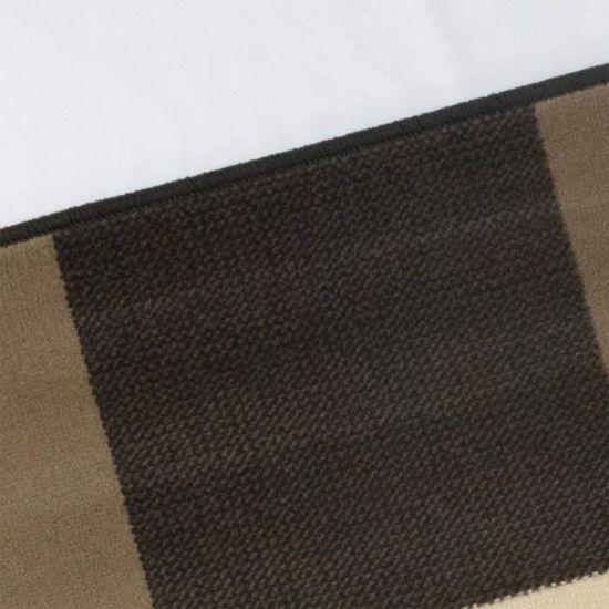 Tapis salon DESIGN carrés beige marron taupe DEBONSOL - 120x170cm