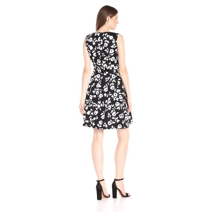 Anne Klein Sleeveless Printed Fit-Et Flare-Robe OSX1V