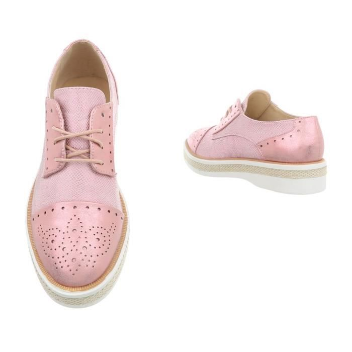 2 Lace ups 39 1 3bxmbp Flats Flat Women's Taille Loafer 6Sazxx