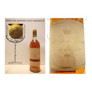 VIN BLANC Château d'Yquem 1985 - Sauternes - 1er Cru Supérie