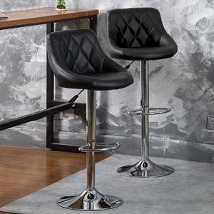 TABOURET DE BAR Lot de 2 Tabourets de bar - Chaise de bar Simili N