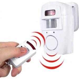 DÉTECTEUR DE MOUVEMENT Alarme Détecteur de Mouvement et 2 Télécommandes