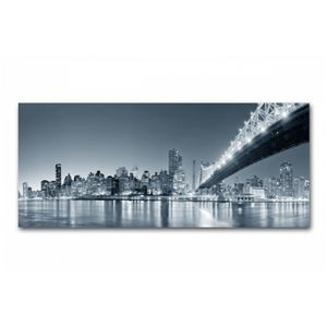 Tableau panoramique New York by night 90x30 cm