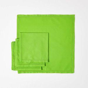 SERVIETTE DE TABLE Lot de 4 serviettes de table 100% coton  Citron Ve