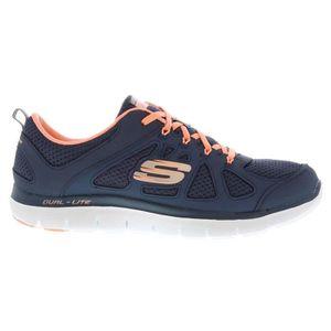 de Skechers running Achat Baskets Femme Bleu Vente 3j4R5LqA