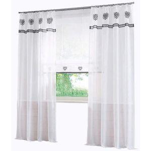Espeedy 2/pcs Rideau de fen/être transparente Pivoine Fleur Windows Panneau balcon Salon de salle de bain Chambre /à coucher Rideaux D/écoration de la Maison 1 beige