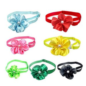 MACHINE À SODA 6pcs Pets Bow Ties Solid Color Flower Collar Adjus