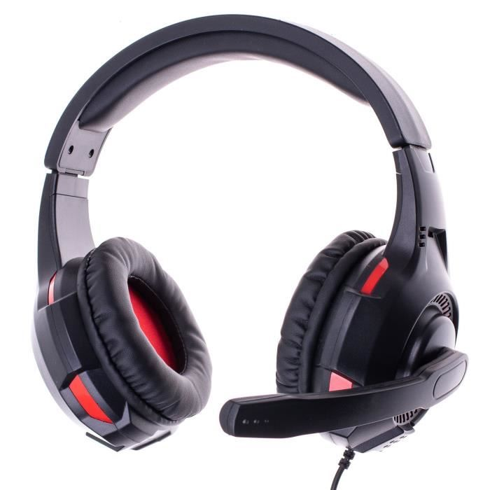 Casque Gaming double avec Micro FREAKS AND GEEKS Noir pour PS4/XBOX ONE/SWITCH