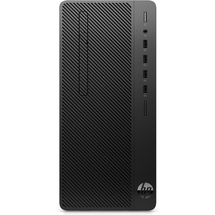 HP - COMM DESKTOP L10 (DG) - 290 G3 MT I3-9100 256GB SSD 8GB DVD W10P FR - Couleur:Noir