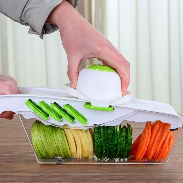 Eplucheur electrique Coupeur Nourriture Râpe à Légumes Outil Coupe en Tranches Accessoires (Plaque blanche à 6 lames )