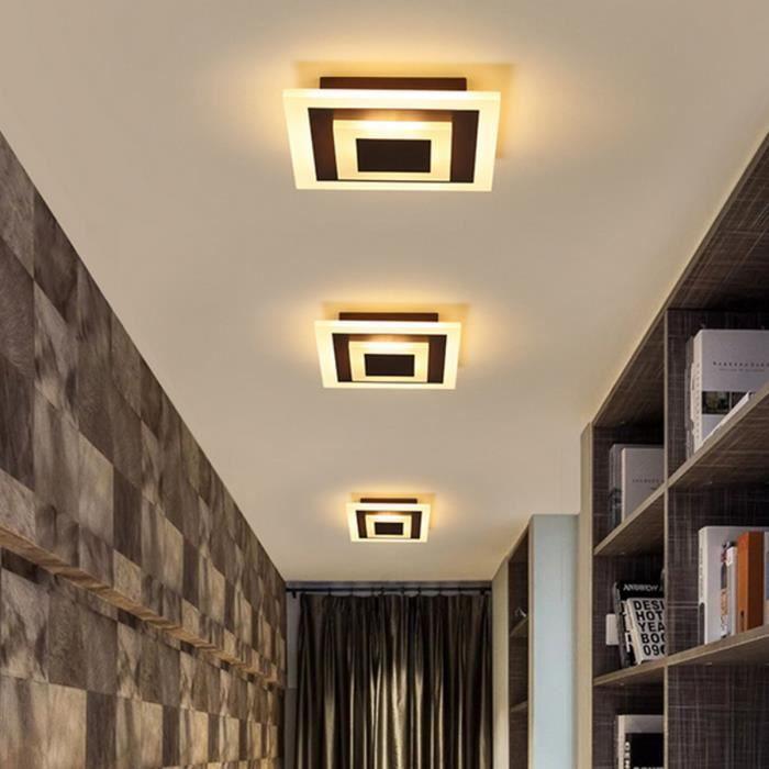 LED Plafonnier Moderne Carré Creative Rhombe pour Couloir Escalie Cuisiner Salle à manger Salon Chambre Bureau Blanc chaud Marron