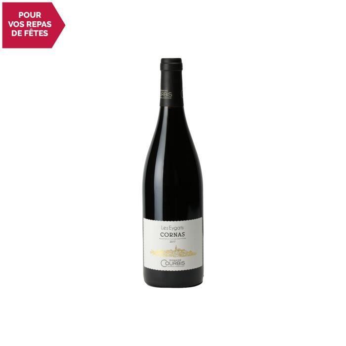Cornas Les Eygats Rouge 2017 - 75cl - Domaine Courbis - Vin AOC Rouge de la Vallée du Rhône - Cépage Syrah