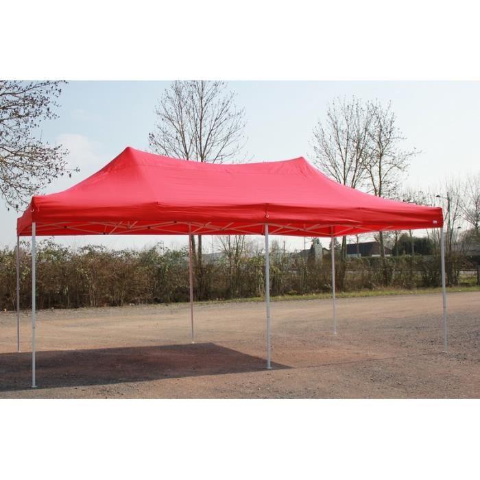 Barnum Pliant 3x6m Rouge - Tente Pliante Etanche