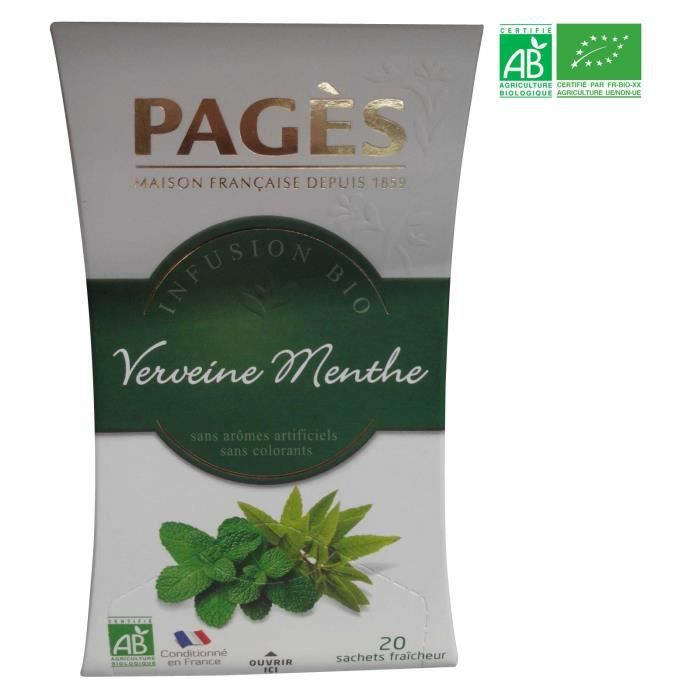 PAGES Infusion Verveine Menthe Bio