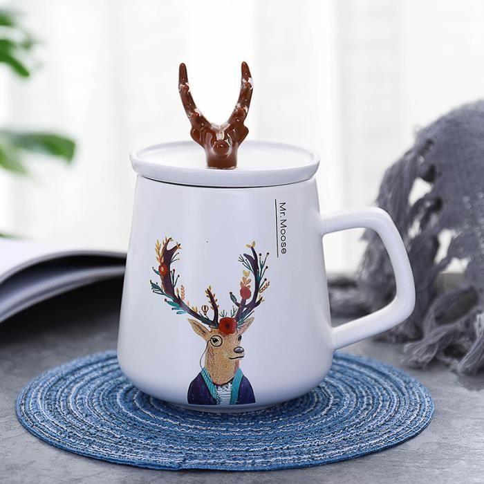 2 Pcs Mug Original 450 ml 7.4*9.5cm Tasse À Thé à offrir en cadeau à vos proches - Tasse À Café en porcelaine fine