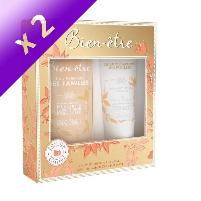 BIEN-ETRE Coffret Eau de Cologne Eau des Familles Splash 250 ml + Baume Hydratant Eau des Familles 100 ml (Lot de 2)