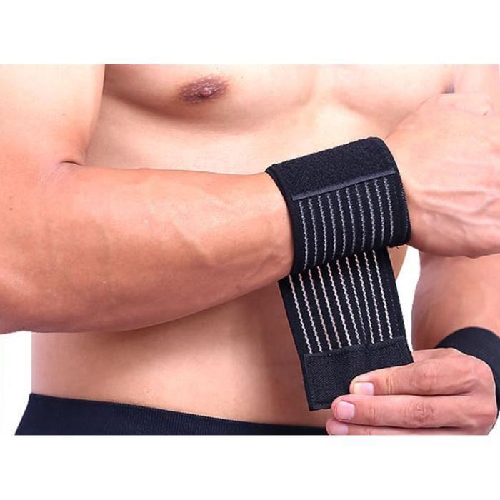 Bande Poignet Musculation - Protège Poignet, Poignet de Force, Support Poignet, Crossfit, Fitness - Femmes et Hommes
