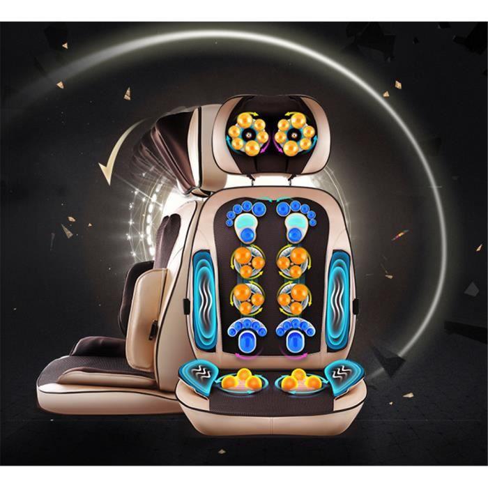 HTBE ®Siège massant shiatsu - fauteuil massant multifonction 3 en 1- détachable-puissant-chauffant-nouvelle version haut de gamme