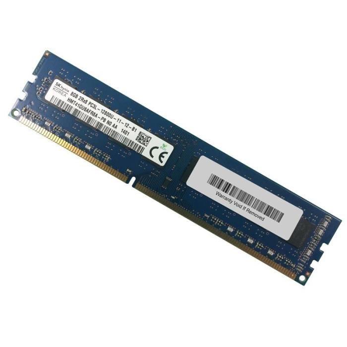8Go Ram Pc Bureau Hynix Hmt41gu6afr8a Pb Ddr3 Pc3l 12800U 1600Mhz 2Rx8