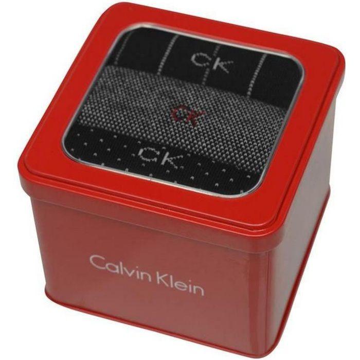 Coffret Cadeau Rouge de 3 paires de Chaussettes Calvin Klein Homme 40-46