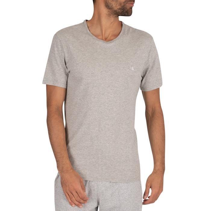 Calvin Klein Lot de 2 t-shirts d'équipage, Multicolore, Homme