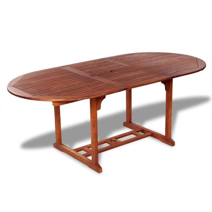 Tables d'extérieur Table de salle à manger d'extérieur extensible en bois d'acacia