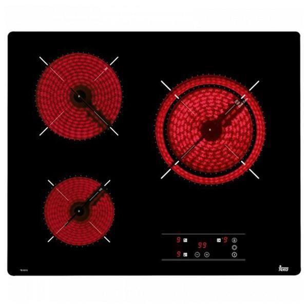 Plaques vitro-céramiques Teka TB6310 60 cm Noir (3 zones de cuisson